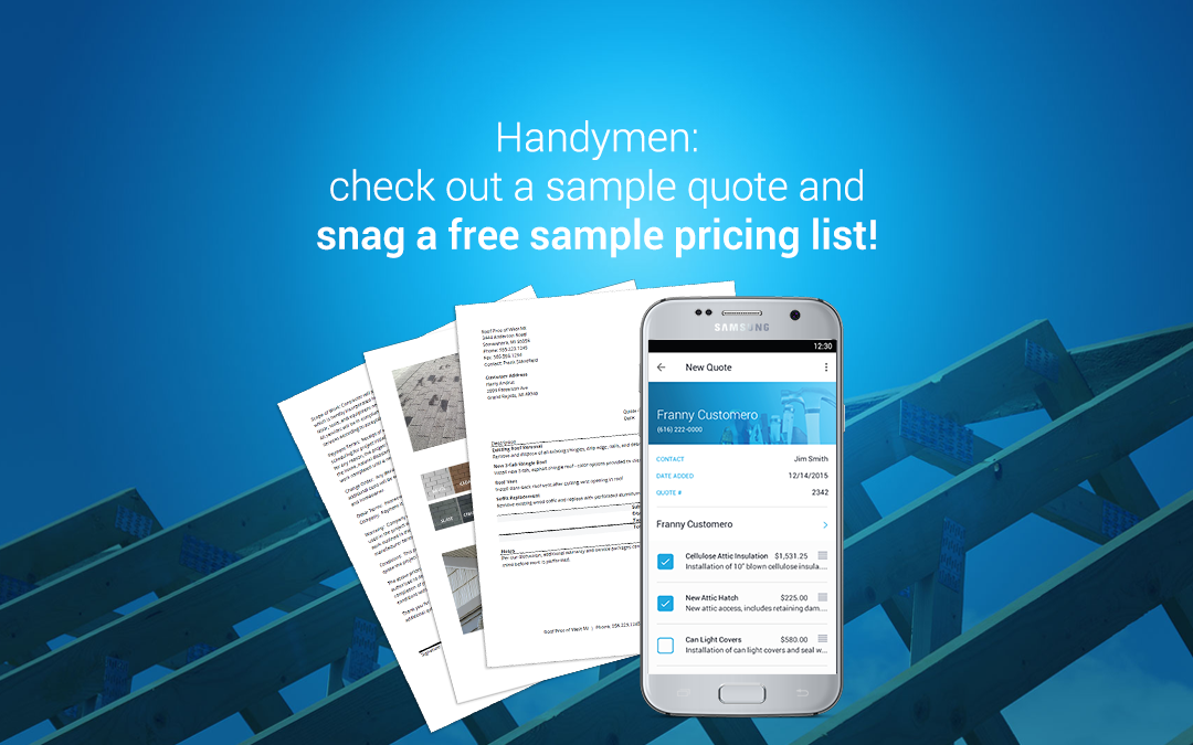Handyman Estimating & Invoice Software and Quote Template | JobFLEX