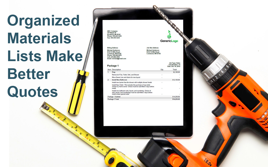 The Importance of an Organized Materials List in Plumbing Quotes
