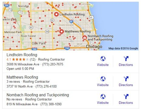 Roofing Company Search Result