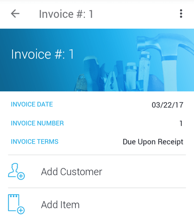 JobFLEX invoice app