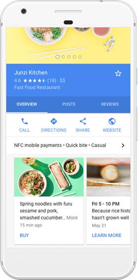 restaurant deals in google post