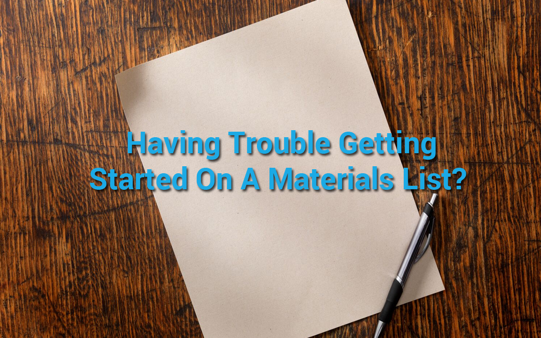 How Contractors Can Maintain and Manage A Materials List