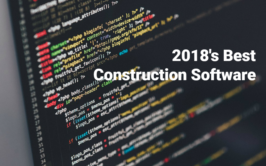 Top 5 Construction Software for 2018